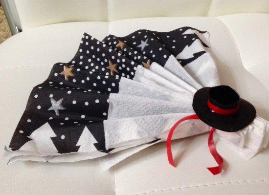 184 - Scrapbooking - Déco mariage - Mini chapeau pour serviette - thème Espagne