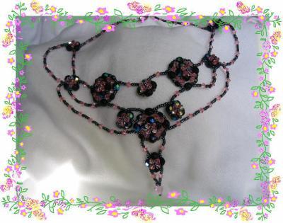 "7 - BIJOUX - collier  ""Belle de nuit"""