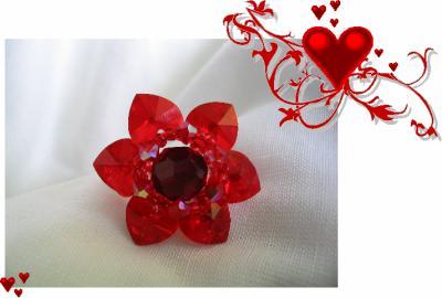 """27 - BIJOUX - Bague  """"Fleur d'amour"""""""