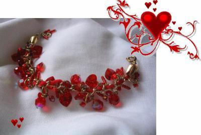 """28 - BIJOUX - Bracelet  """"Margot coeur gros"""""""