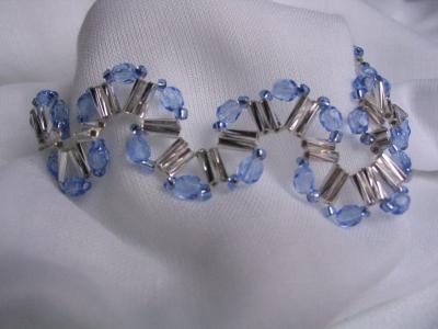 """39 - BIJOUX - Bracelet  """"Un coin tout bleu"""""""