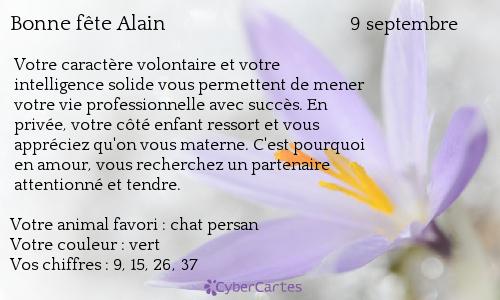 Bonne fête Alain