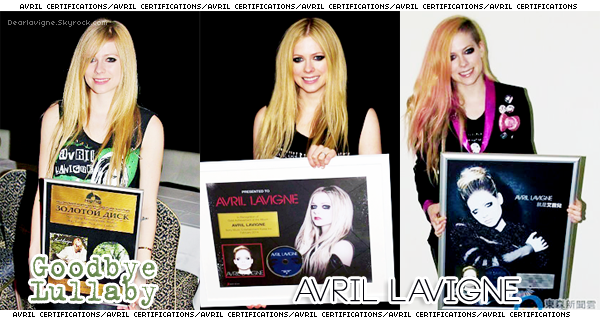 « Avril Lavigne, certifications »