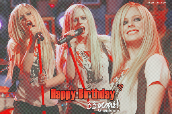 « HAPPY BIRTHDAY to you Avril (33years) ♥ »