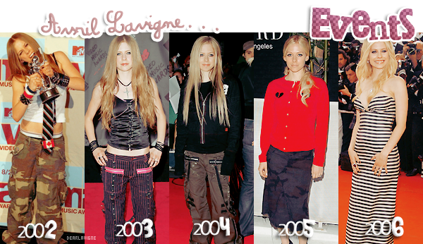 « Avril Lavigne, EVENTS all years »