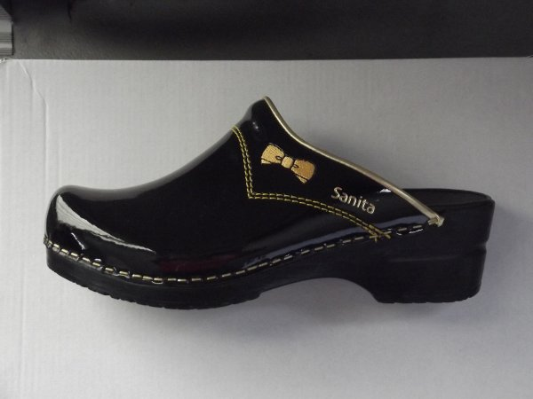 "SANITA-FASHION (exclusivité SABOT-NAOMY) -CUIR VERNIS AVEC NOEUD"""" OR """"""BRODÉ ET COUTURE"""" OR -"""" -TEL 0663121778"