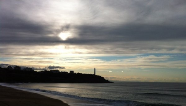 anglet , vue sur la phare de Biarritz ^^ j'adore