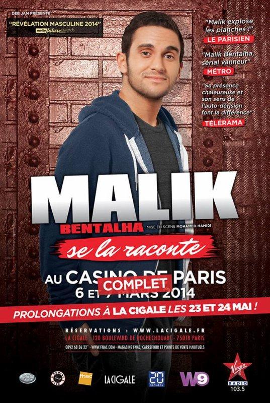 Malik Bentalha se la raconte en ce moment au Casino de Paris