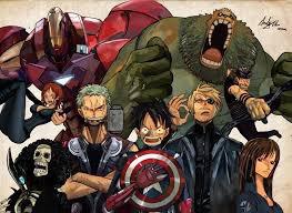 One piece version Avengers