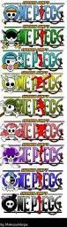 les différents titres de One Piece selon les personnages !!!!!