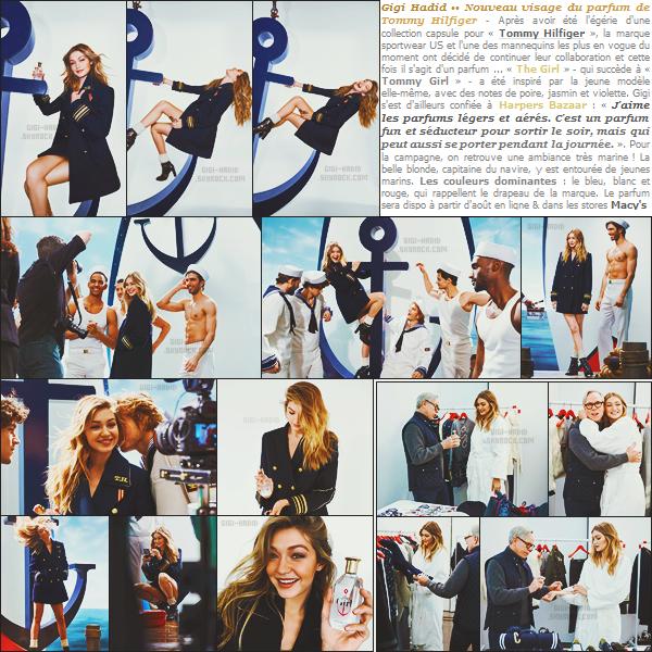 . • La jolie Gigi Hadid est le visage du nouveau parfum de Tommy Hilfiger « The Girl »..