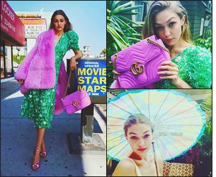 .  Gigi H. filmée par « Vogue USA » à l'occasion de sa première couverture (Août 2016)..