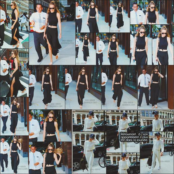 - -• 22/07/16- : La belle mannequin Gigi Hadid a été photographiée alors qu'elle quittait son appartement situé à New-York.    Jelena s'est rendue au restaurant bar Pitti, où elle a posé avec quelques fans ! Un très beau top. Plus tôt, elle a été vue regagnant son appartement. -