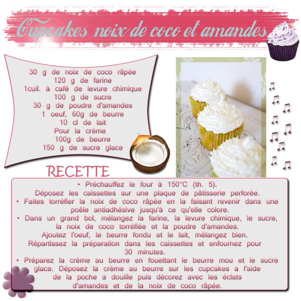 CUPCAKES NOIX DE COCO ET AMANDES