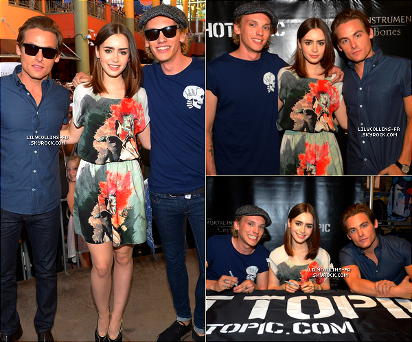 31\0713 : Lily était au The Mortal Instruments : City Of Bones tour - Dolphin mall. J'adore la tenue de Lily ! Et vous ?