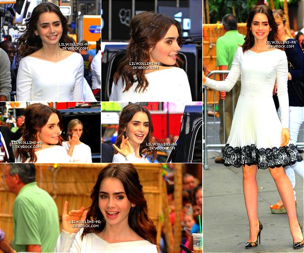 06\08\13 : Notre Lily était au Good Morning Amercia à New York. J'adore la tenue de Lily, sa coiffure... un beau top pour Lily