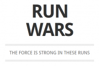 RUN WARS --- GPS art