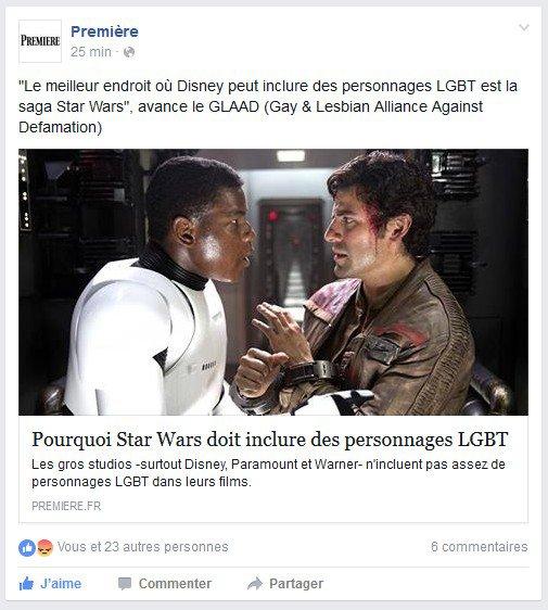 Les personnages LGBT dans Star Wars : question ouverte.