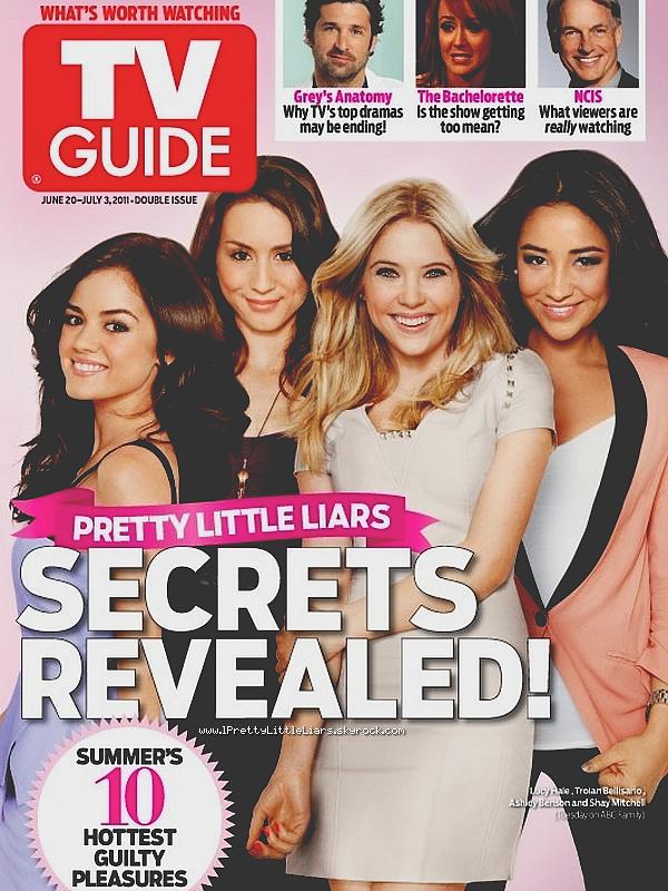"""- Série : Scans d'un magazine Découvre le scan du magazine """"TV Guide"""", dans lequel nos quatre menteuses favorites font la couverture.  -"""