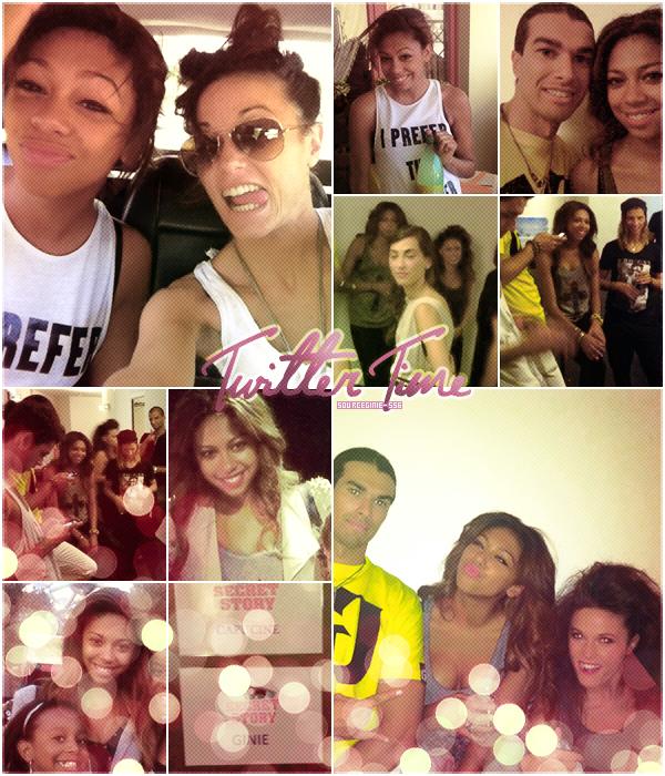 Voici des photos de Ginie trouvées sur twitter des photos dans les loges de SS6 et avec des fans.