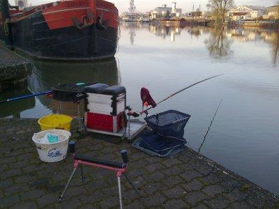 une pêche au pôle feeder un lundi de pâque