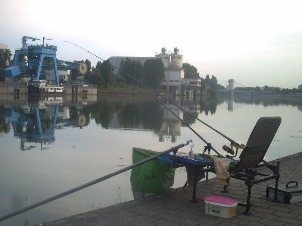 une pêche rapide avant l'orage