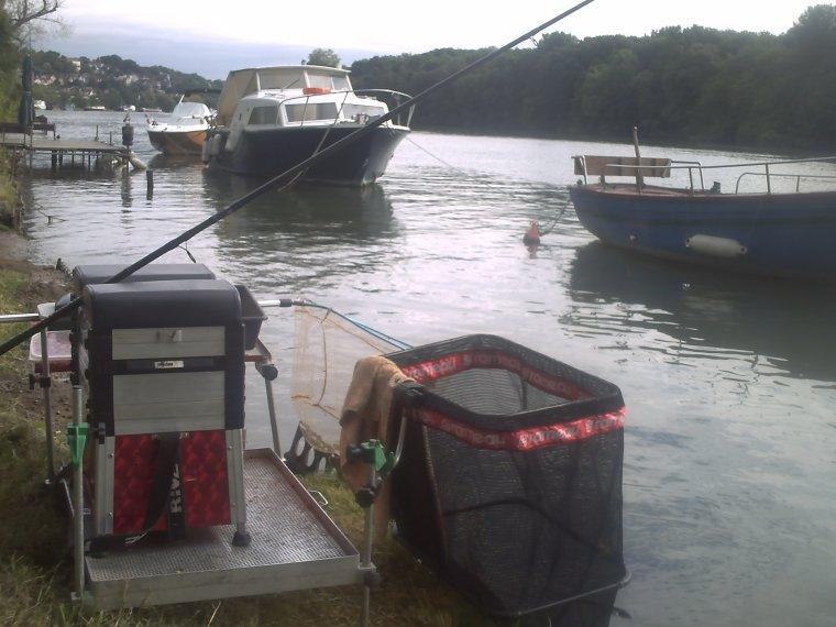 l'installation au feeder +pêche feeder a draveil