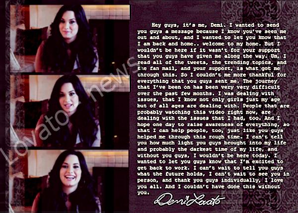 La Vidéo que Demi a posté ce Lundi 7 Mars sur Cambio .