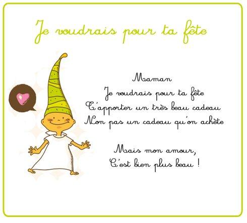 Petit Poeme Pour La Fete Des Meres Blog De Nounoubricole02