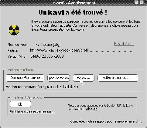 ATTENTION UN KAVI A ETE TROUVé