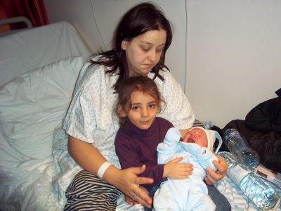 Clara avec son cousin