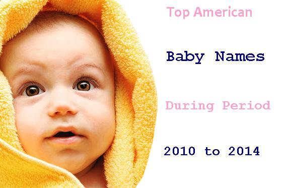 Top American Baby Names During Period 2010 to 2014