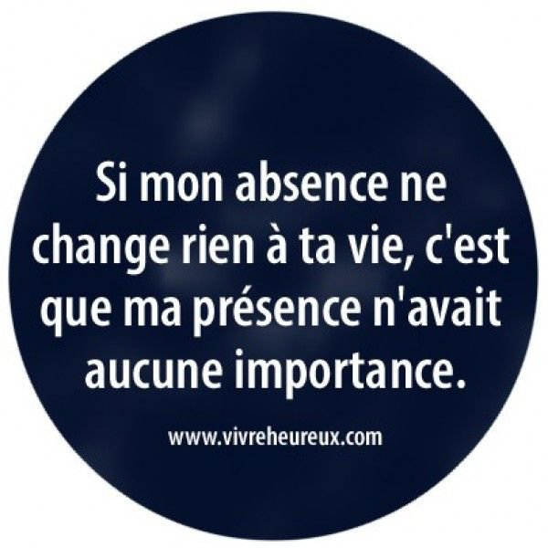 Absence...