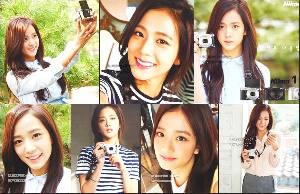 ----------------  ••  Découvrez le shooting de la sublime Jisoo pour la grande marque Nikon en Corée - Mai 2015.  Beaucoup de belles photos assez simple de notre trés belle et ravissante Jisoo. J'aime beaucoup ses photos vraiment. Vous en pensez quoi?  ----------------