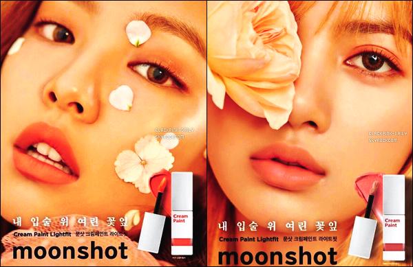----------------  Découvrez des photos de Jennie et Lisa pour la marque de beauté  « Moonshot » -  Février 2017  Les filles sont tellement belle et radieuse, je suis hyper fan de des affiches c'est un gros top, elles sont tellement parfaite. J'adore.  ----------------
