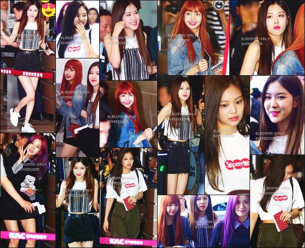 ----------------  17/07/17 :     Nos BlackPink photographiées arrivant dans la journée à l'aeroport de Seoul pour se diriger au Japon.  Alors la j'adore toutes les tenues de BlackPink mais j'ai un coup de coeur pour la tenue de Jennie.  Gros top aussi pour Lisa, tres jolie.  ----------------