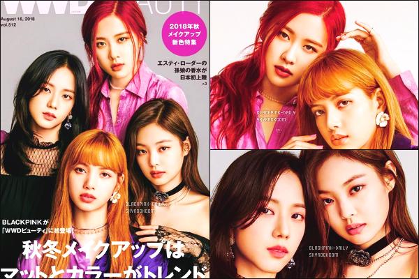 ----------------   Découvrez notre groupe BlackPink  en shooting pour le grand magazine     Wwd Beauty     -   Aout 2018.     Je suis trop fan de toutes les photos. J'adore trop les couleurs simple, j'aime tellement les cheveux de Rosé. J'aime assez c'est simple, top.   ----------------