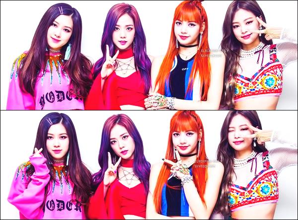 ----------------  ••• Découvrez en photos de  BlackPink dans les coulisses du show pour   Inkigayo  - Juin 2017.   J'adore assez les tenues de tous le monde. Je suis tellement fan du pull over de notre sublime Rosé. Gros top les cheveux violet de Jisoo.  ----------------
