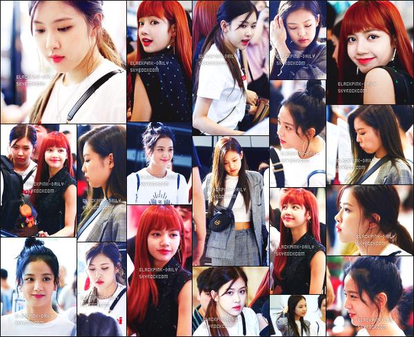 ----------------  26/08/17 :     Nos BlackPink photographiées arrivant dans la journée à l'aeroport de Seoul pour se diriger au Japon.  Alors la j'adore toutes les tenues de BlackPink mais j'ai un coup de coeur pour la tenue de Jennie.  Gros top aussi pour Lisa, tres jolie.  ----------------