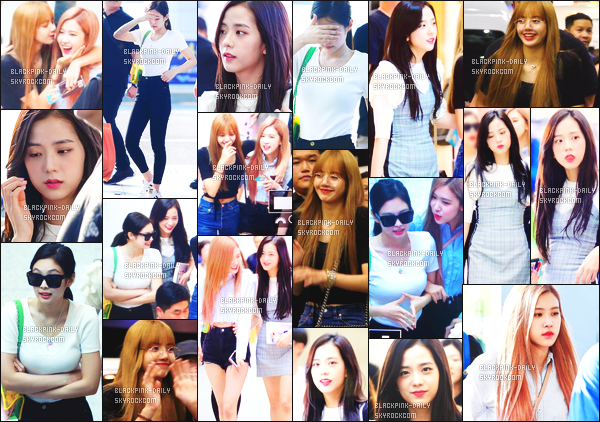 ----------------  15/08/18 :   Les jolies BlackPink photographiée  arrivant dans la journée à l'aéroport de Incheon   - en Corée du Sud.   Au tops pour  les tenues des filles, j'adore assez cette longue chevelure de notre belle Rosé. Gros top pour les lunettes de soleil de Jennie.  ----------------