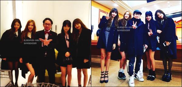 ----------------  03/02/18 :   BlackPink a été photographiée  arrivant dans la journée à la cérémonie du mariage de Taeyang       à Séoul.  J'adore  assez les tenues de tous le monde. Je suis vraiment fan de la coiffure de notre princesse Jisoo. Au top les chaussures de Jennie.  ----------------