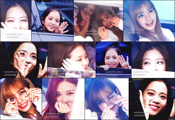 ----------------  17/06/18 :  BlackPink a été aperçue arrivant/quittant dans sa voiture dans les studios du show    Inkigayo   -  à Séoul.  Les filles semblent  tellement émue de voir des fans, elles sont tellement mignonne et adorable. Je pense que les filles sont au naturelle. ----------------