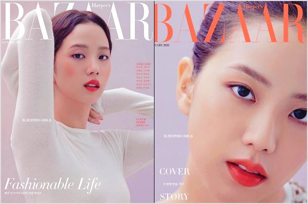 ----------------  •• Découvrez  les photos de  Jisoo  pour le  magazine    « Harper's BAZAAR  »   -   Décembre 2019.   C'est pour le magazine de Janvier 2020. Je trouve Jisoo assez belle. J'adore assez le maquillage qu'elle a simple et sobre. Elle est parfaite.    ----------------