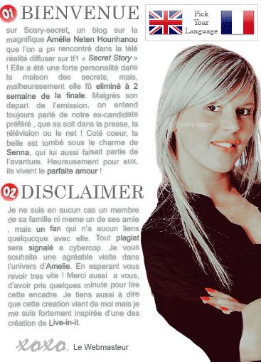 scarySECRET : Source sur Amelie Neten Entre dans l'univers de la belle candidate.