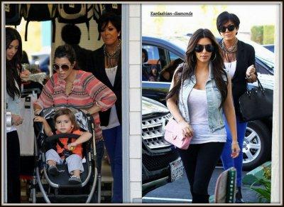 - 03-03-12 Kim, Kris, Kourtney et Mason ont été aperçu faisant les boutiques à Los Angeles ! -