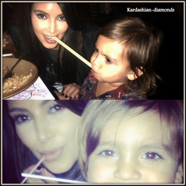 - 09-04-12 Kim a fait du baby sitting avec Mason !