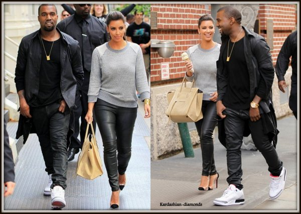 21-04-12 Kim et Kanye West dans New York !