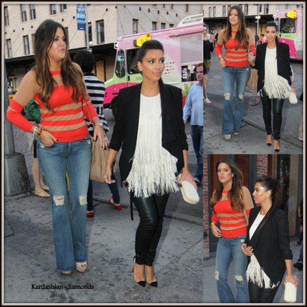 21-04-12 Kim et Khloé pendant le tournage de Keeping up with the kardashians à New York !
