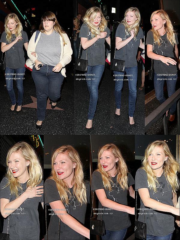. 05/06/2O13: Kirsten Dunst et son ami Kate Mulleavy se sont rendu au concert de 'The Heartbreakers' dans un théâtre qui se situait dans Los Angeles. Des avis ?  N'hésitez pas à laisser vos avis, je rends tout les commentaires. Qu'en pensez-vous de sa tenue ? TOP, BOF, ou FLOP ? .