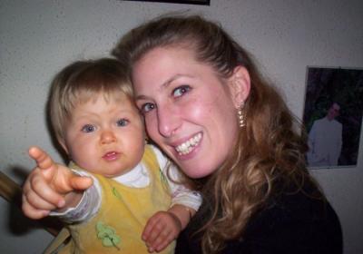 ma fille peggy et ma princesse Léane et leane a grandie